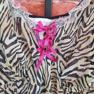 Cacique Intimates & Sleepwear - Cacique zebra print sheer nightgown 22/24